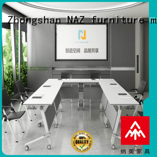 NAZ furniture movable folding conference room tables with wheels for sale for training room