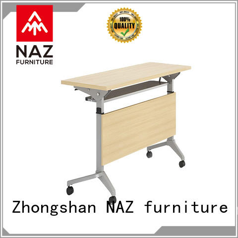 NAZ furniture trapezoid training table design for sale