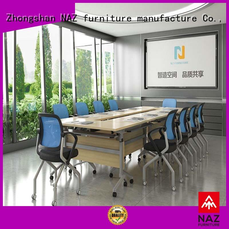 comfortable modular conference table design ft018c on wheels for training room