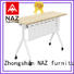 NAZ furniture on aluminum training table with wheels for meeting room