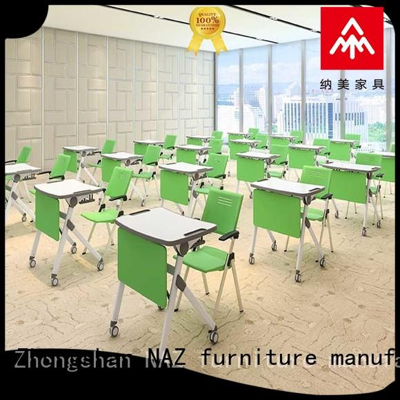 NAZ furniture modern foldable study desk factory for training rooms