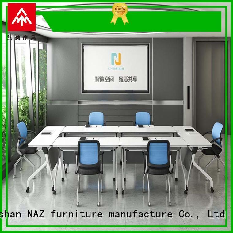 NAZ furniture movable flip top conference tables manufacturer