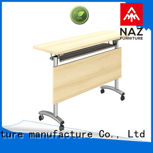 NAZ furniture office aluminum training table with wheels