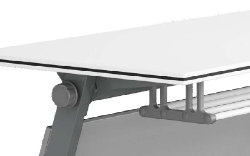 NAZ furniture computer boardroom training table with wheels-5