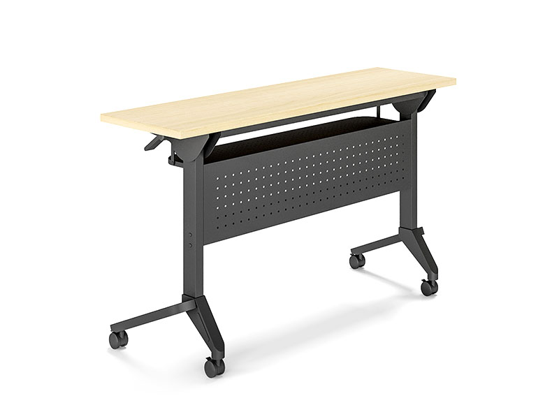 NAZ furniture trapezoid computer training tables supply-2