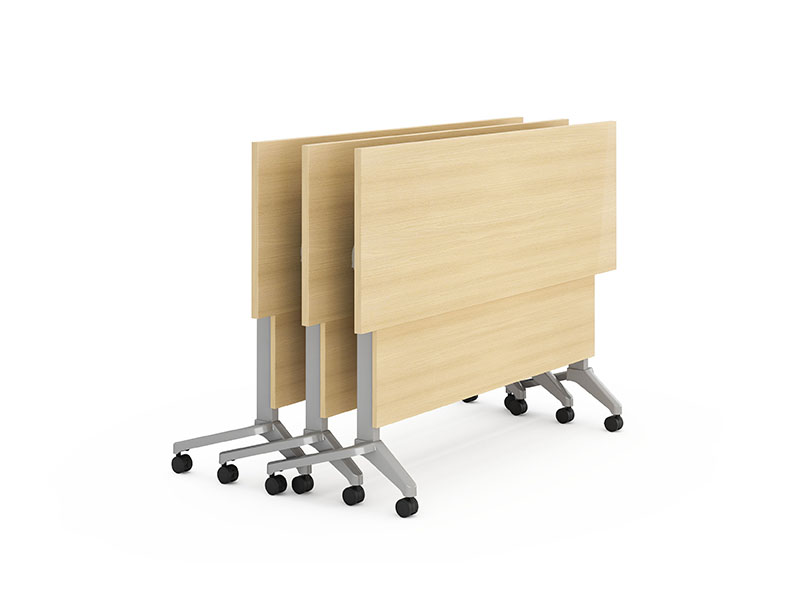 NAZ furniture trapezoid computer training tables supply-3