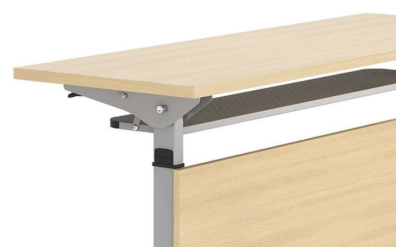 NAZ furniture trapezoid computer training tables supply-5