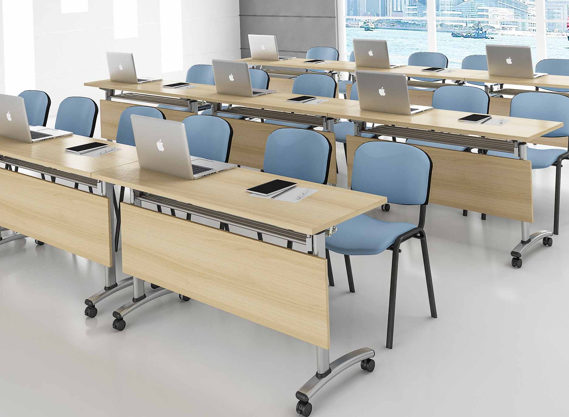 professional training tables with wheels metal multi purpose for training room-8