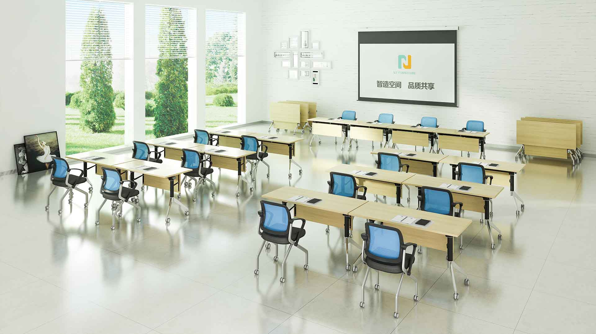 NAZ furniture movable office training furniture for conference for office-8