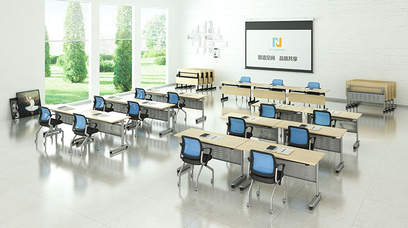 NAZ furniture ft011 training tables with wheels with wheels for school-9