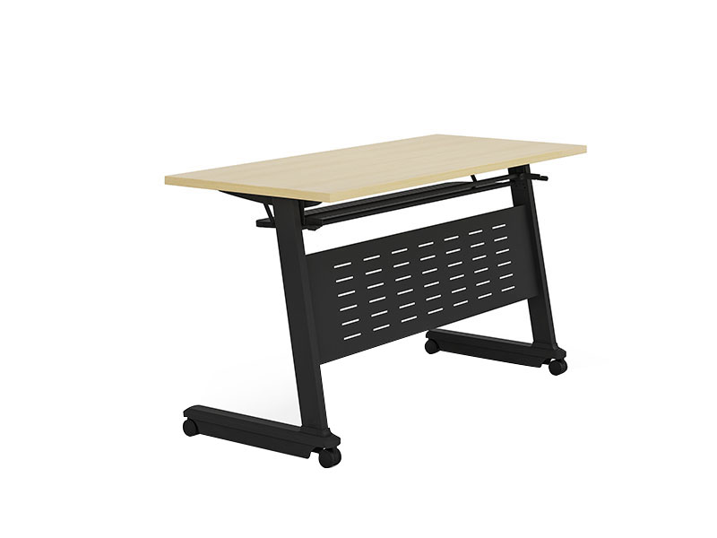 NAZ furniture trapezoid foldable training table with wheels for school-1