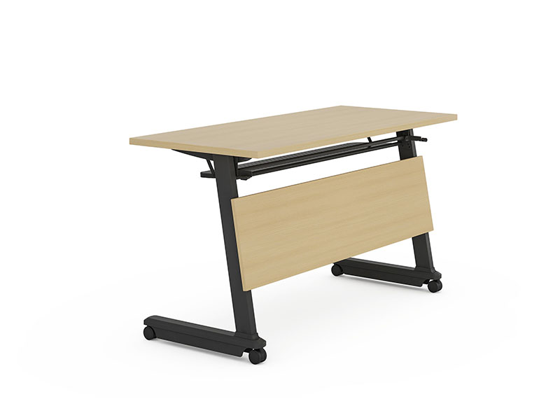 NAZ furniture trapezoid foldable training table with wheels for school-2