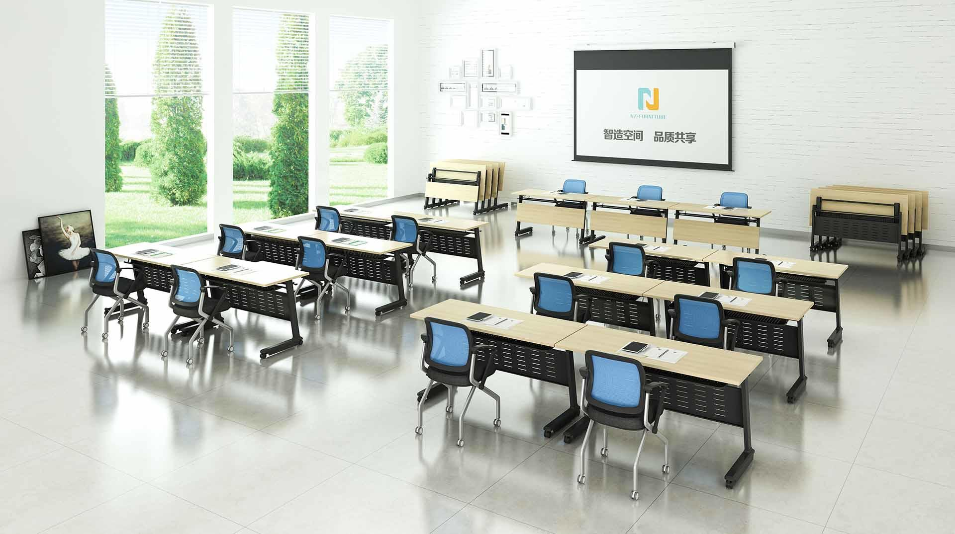 NAZ furniture trapezoid training tables with wheels for conference for office