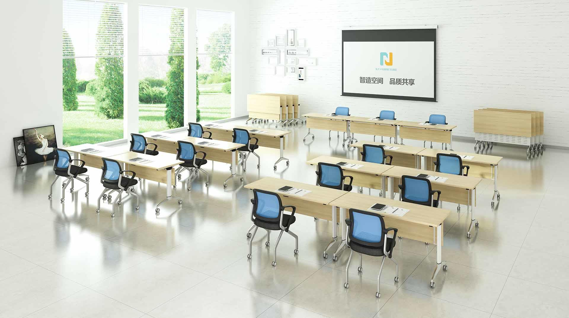 computer training room desks on with wheels
