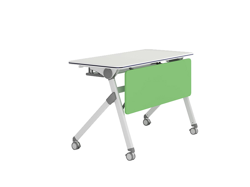 elegant folding student desk modern on wheels for school-2