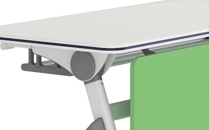 NAZ furniture simple fold up study desk on wheels for meeting rooms-5