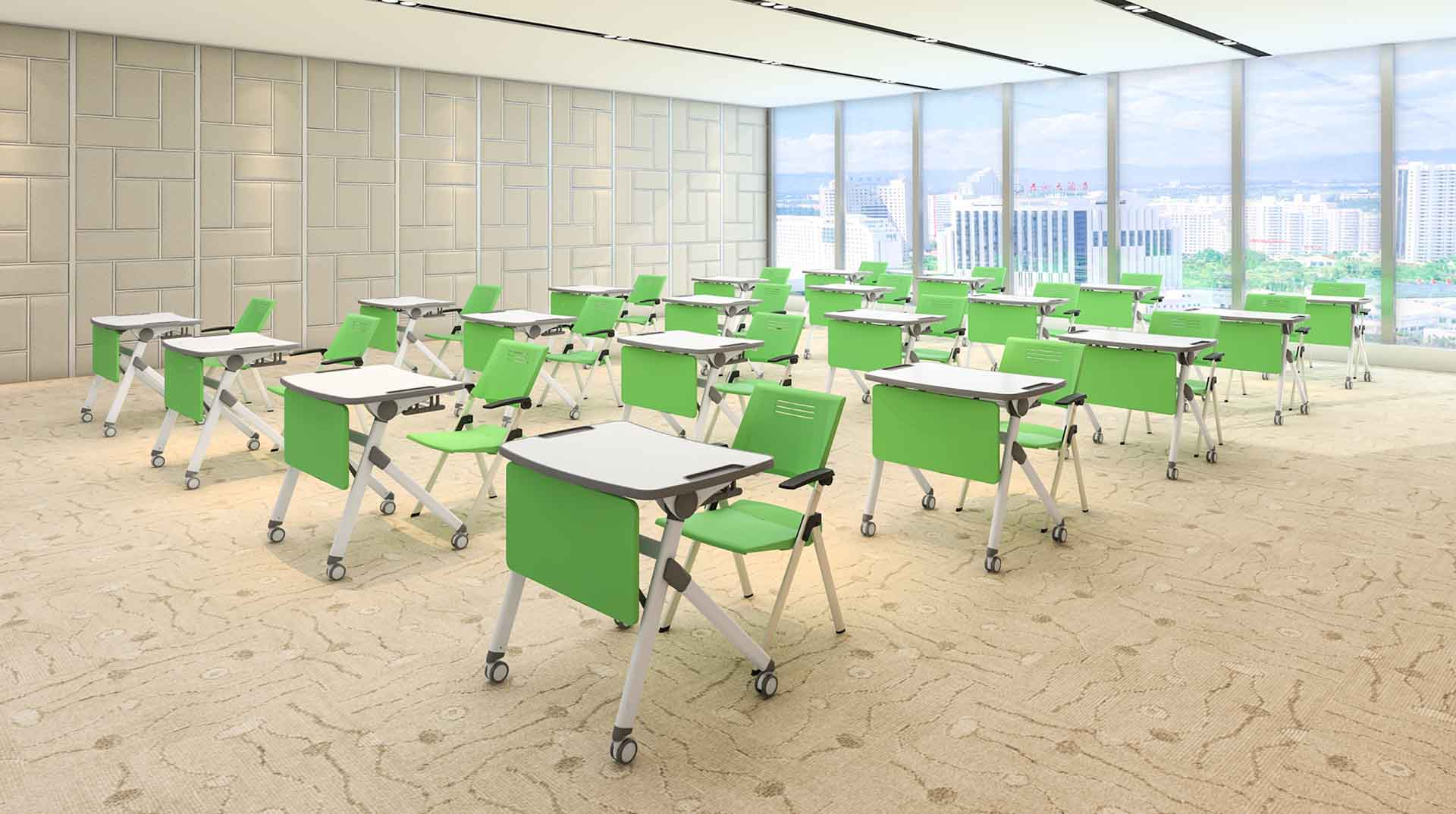 folding folding school desk school on wheels for meeting rooms-8