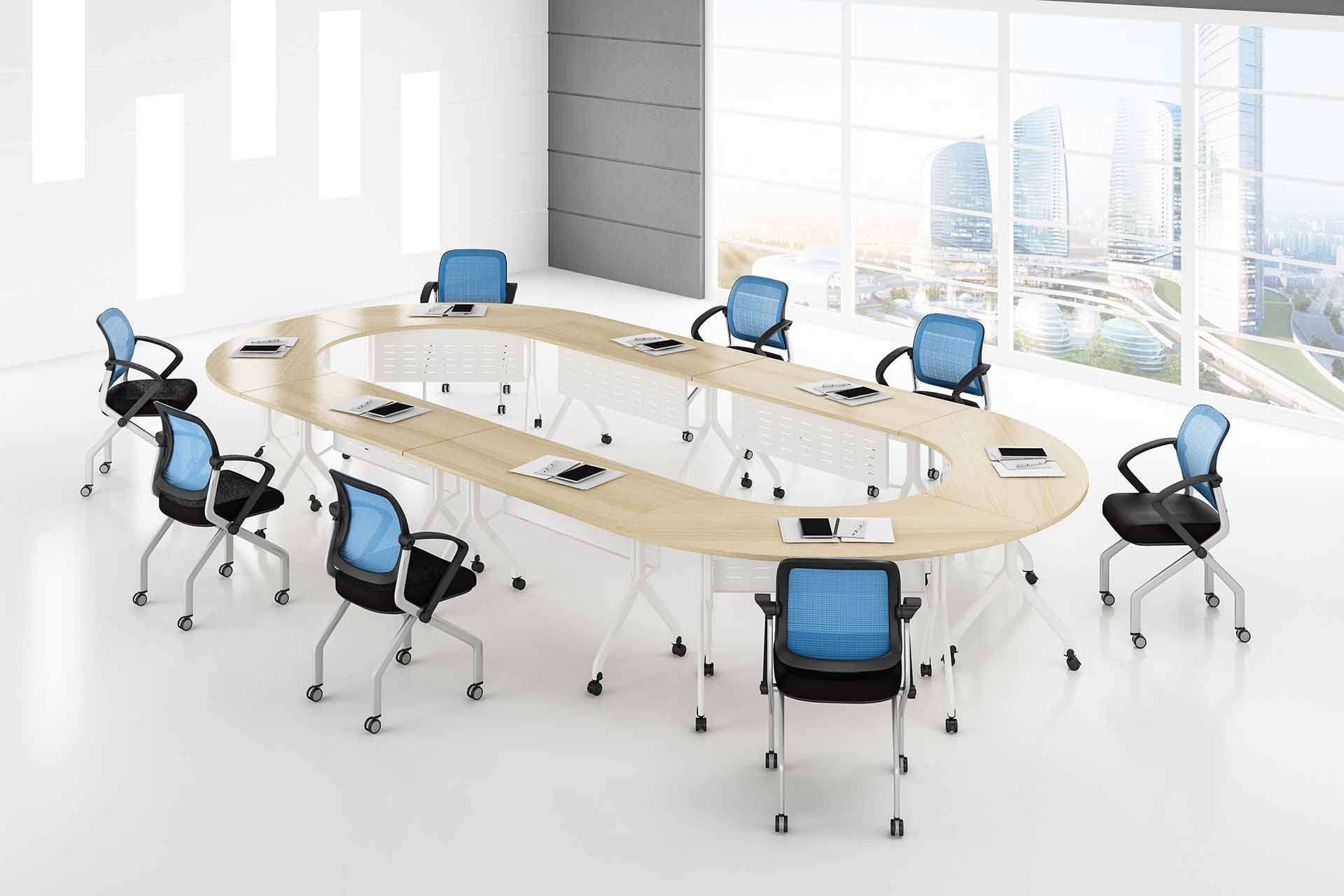 Modern Folding Modular conference table FT-015C for 6/8/10/12/16/20Persons-8