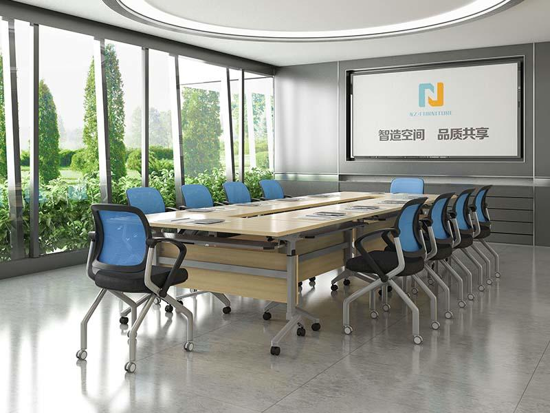6/8/10/12/16/20Persons Folding conference table with steel frame FT-012C