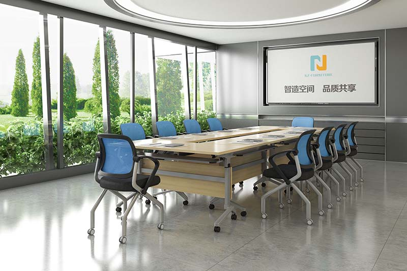 NAZ furniture room small conference table on wheels for training room-8