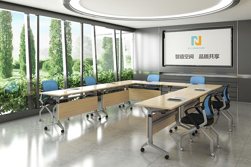 NAZ furniture room small conference table on wheels for training room-9