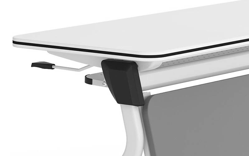 durable white conference table folding on wheels for meeting room-4