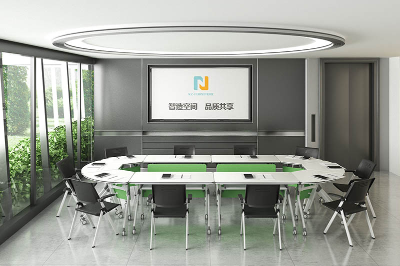 durable white conference table ft002c for sale-8