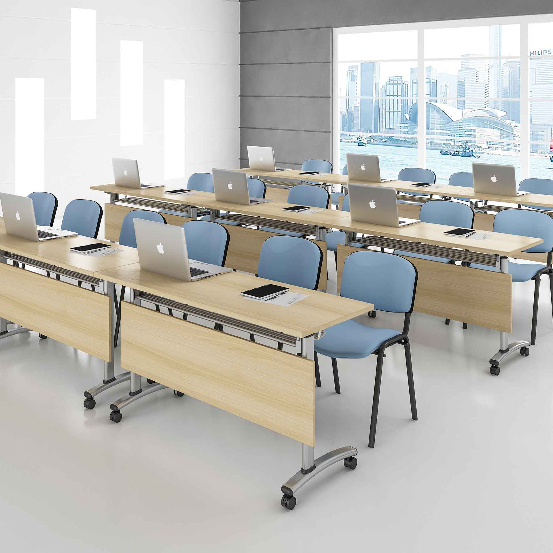 professional mobile conference table on wheels for school-8