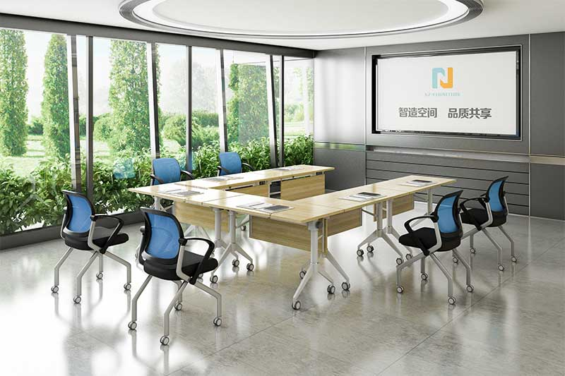 comfortable folding conference room tables with wheels conference for conference for training room-8