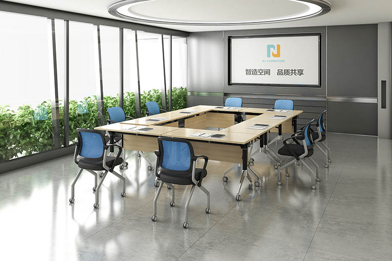 comfortable folding conference room tables with wheels conference for conference for training room-9
