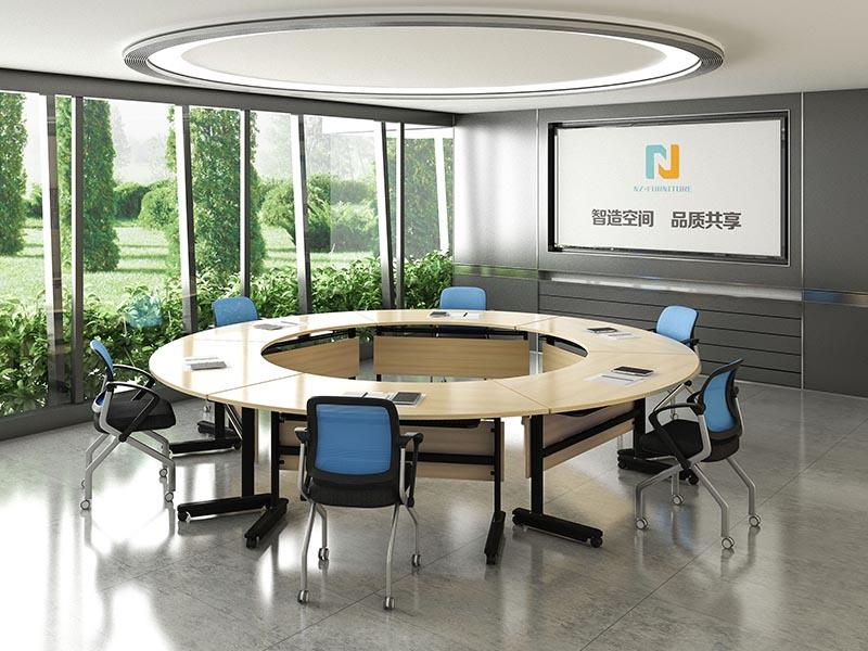 6/8/10/12/16/20Persons Folding Modular conference table on wheels FT-003C