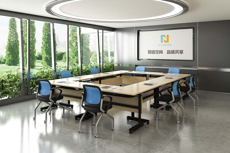 NAZ furniture movable folding conference room tables with wheels manufacturer for meeting room-9