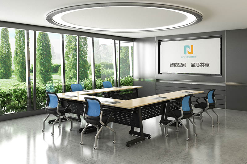 Nesting Folding Modular conference table FT-002C for 6/8/10/12/16/20Persons-9