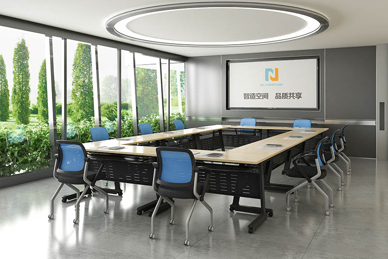 Nesting Folding Modular conference table FT-002C for 6/8/10/12/16/20Persons-10
