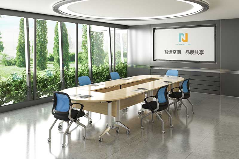 professional 12 person conference table ft020c on wheels for school-8