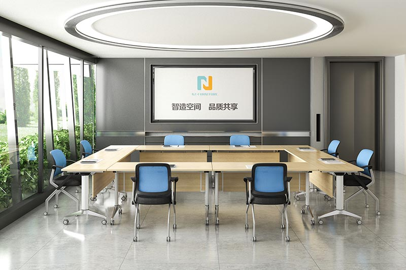 NAZ furniture movable conference room tables folding for conference for meeting room-9