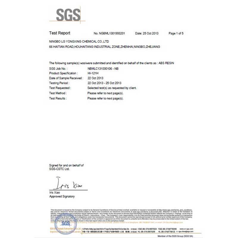 SGS ROHS