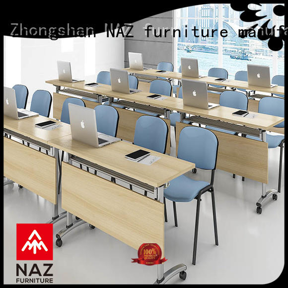 durable folding conference room tables with wheels ft005c for sale for meeting room