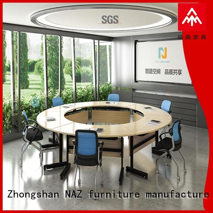 NAZ furniture movable folding conference room tables with wheels manufacturer for meeting room