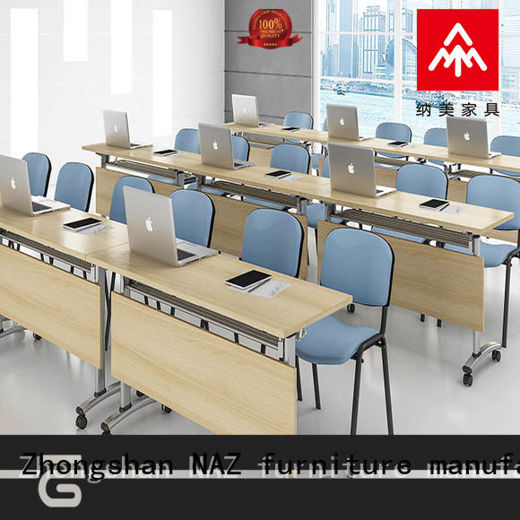 shape foldable conference table persons training room NAZ furniture