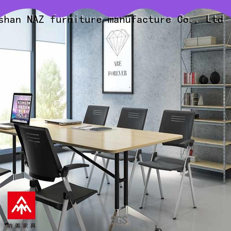 NAZ furniture comfortable conference room tables folding on wheels for meeting room