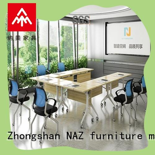 comfortable conference table with wheel on wheels for meeting room NAZ furniture