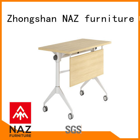 NAZ furniture professional aluminum training table with wheels for office