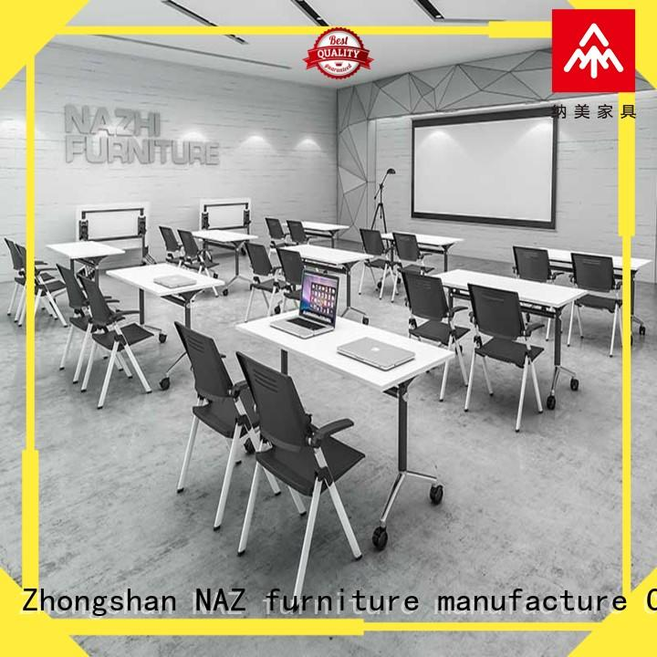 NAZ furniture movable white conference table manufacturer