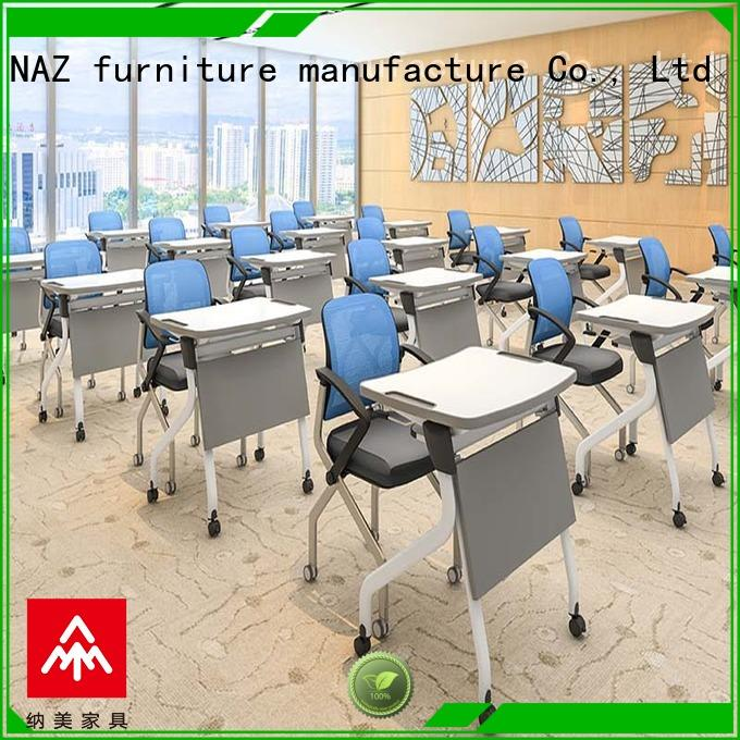 NAZ furniture 8001200mm folding study desk factory for training rooms