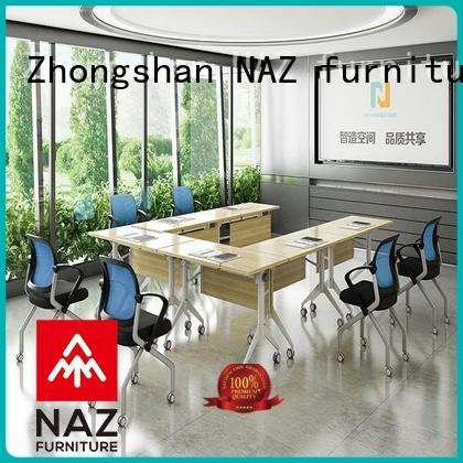 NAZ furniture movable oval conference table on wheels