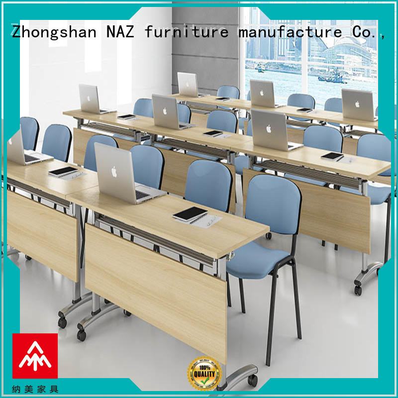 NAZ furniture professional 12 conference table on wheels for training room