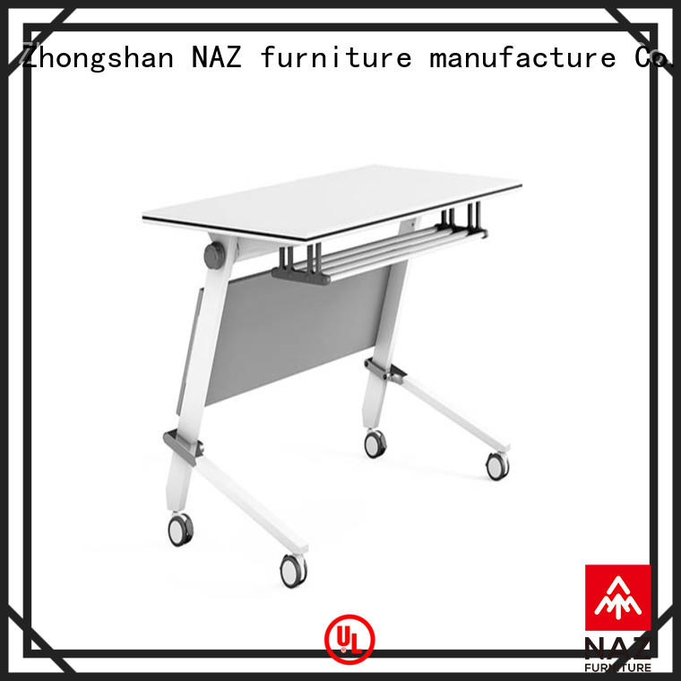 NAZ furniture mobile foldable training table with wheels for school