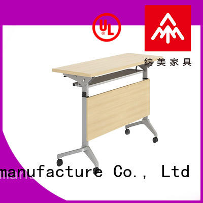 trapezoid mobile training tables wooden for sale for home