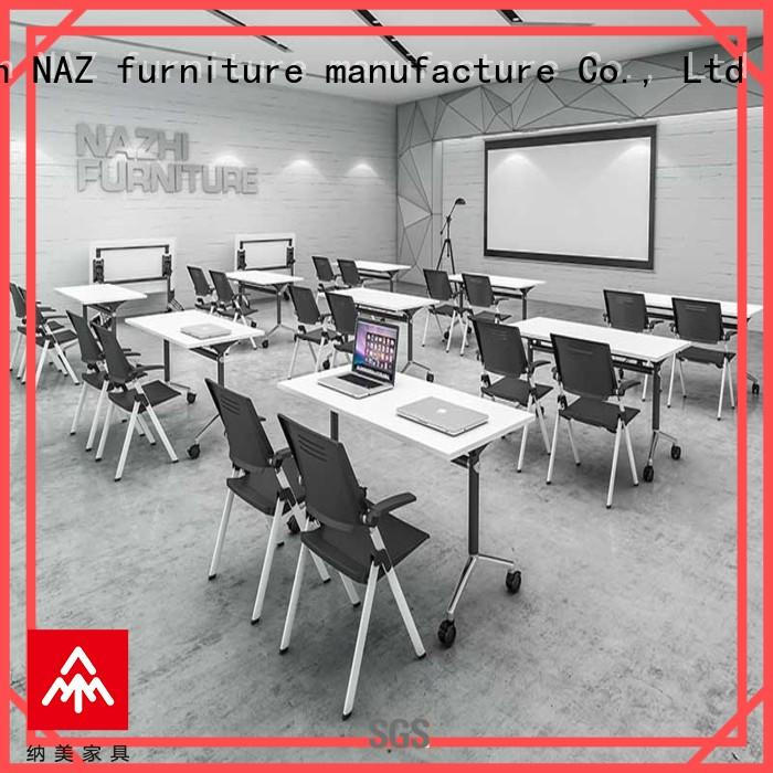NAZ furniture professional foldable office furniture on wheels for training room